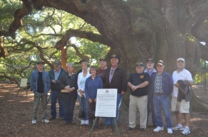 Some of the 9th Infantry Division, Vietnam Veterans, and Loved Ones at Angel Oak